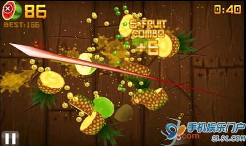 诺基亚Ovi Store开卖《水果忍者》
